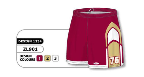 ZFHS901-1234 Short de hockey sublimado personalizado