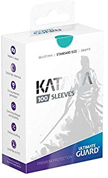 Turquoise Katana Sleeves Standard Size (100) | Spankys Card Shop