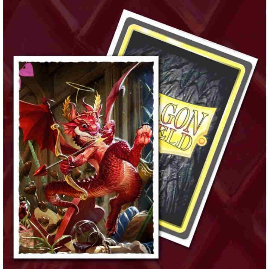Valentines Dragon Art Sleeves Matte 100 Standard | Spankys Card Shop