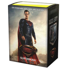 Superman [Justice League] Art Sleeves Matte 100 Standard | Spankys Card Shop
