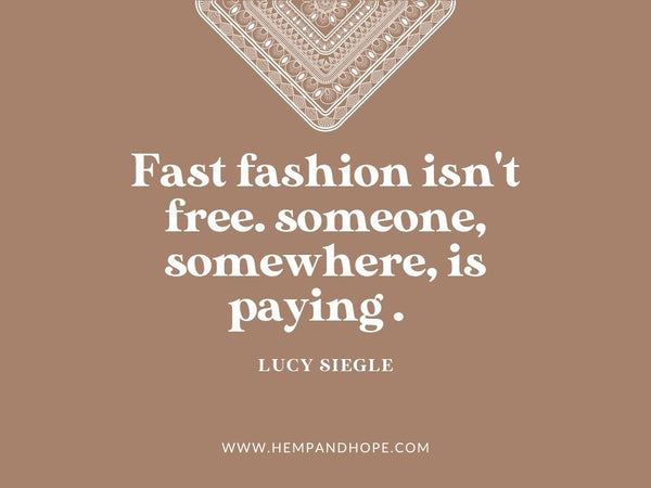 fast fashion quotes