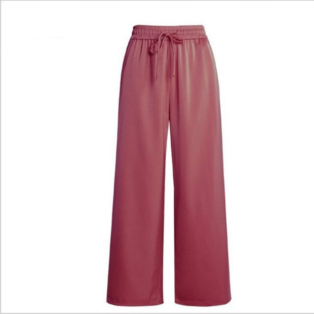 Jamie Wide-Leg Satin Pants