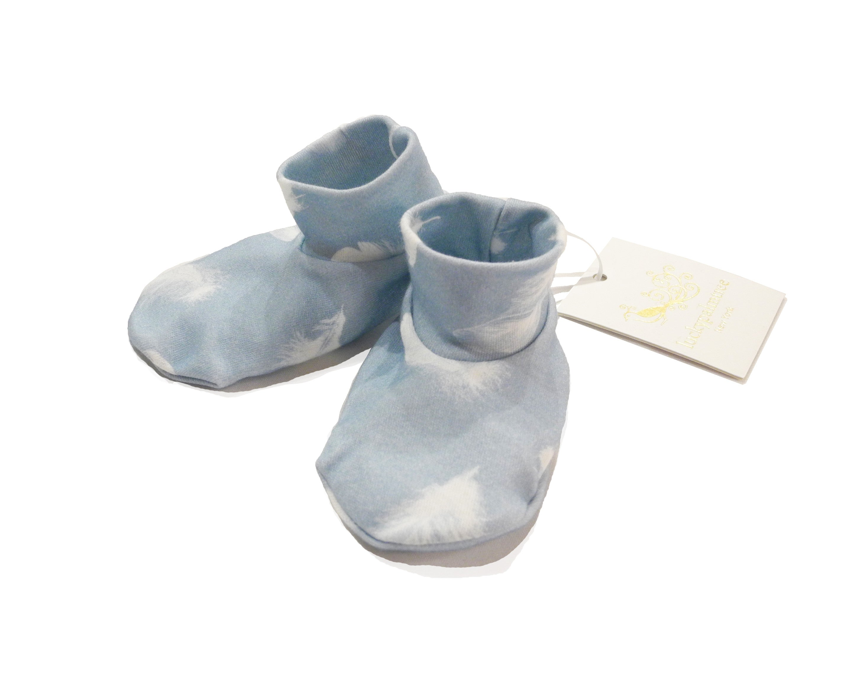 b09ab42adfd7a blue feather bootie