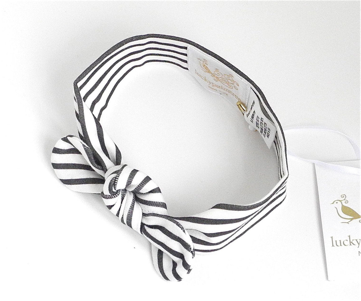 Organic black stripe headband