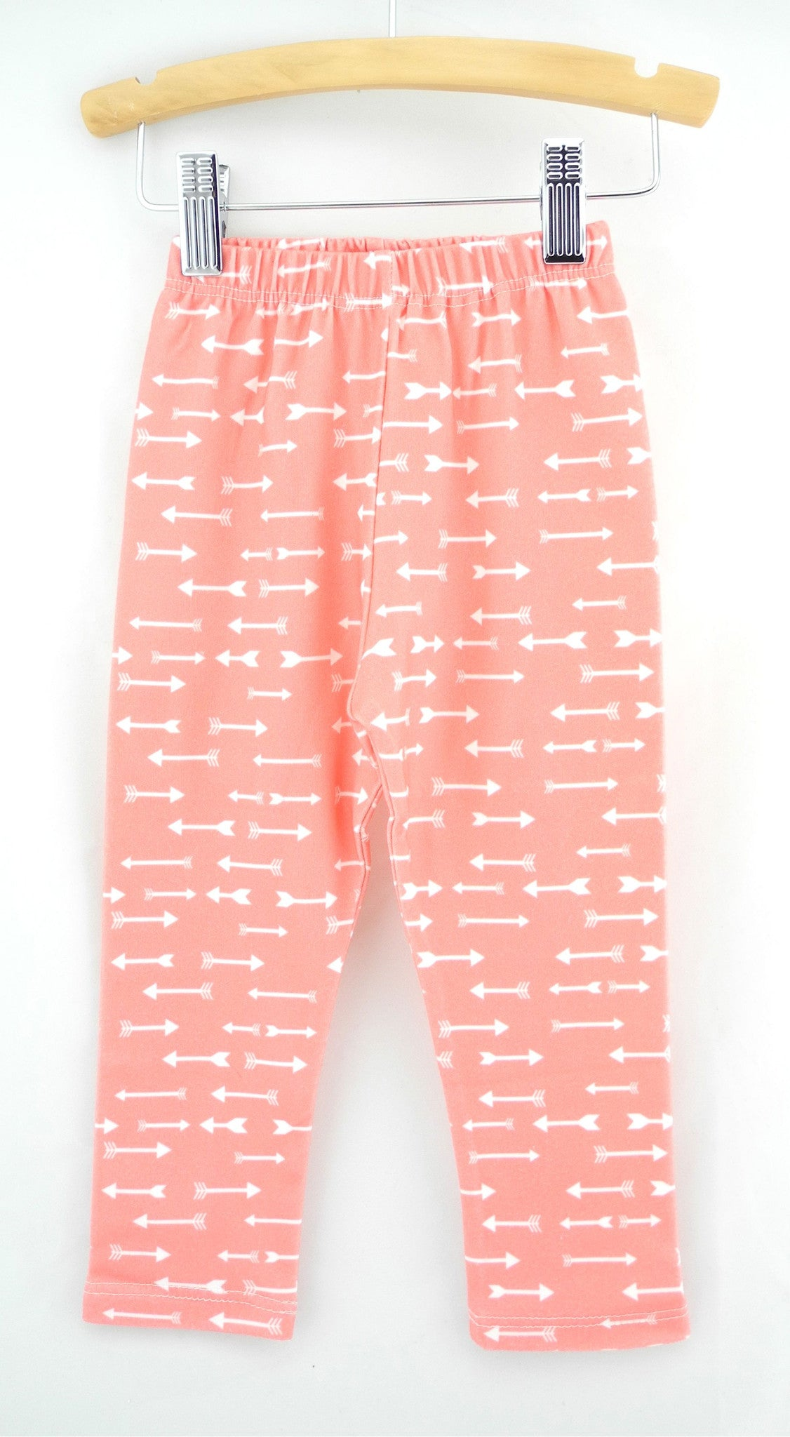 Organic Toddler Leggings, coral arrow