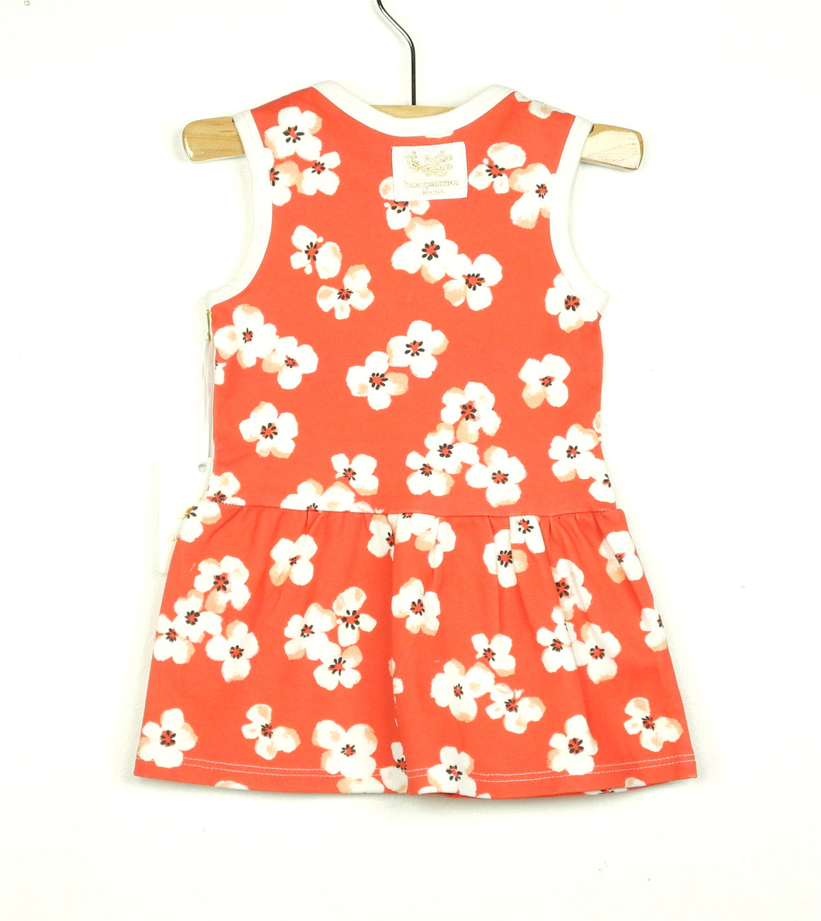 Organic poppy floral sleeveless dress