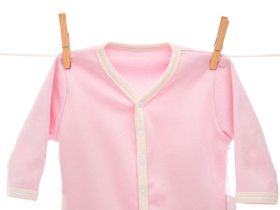 Organic pink footsie coverall