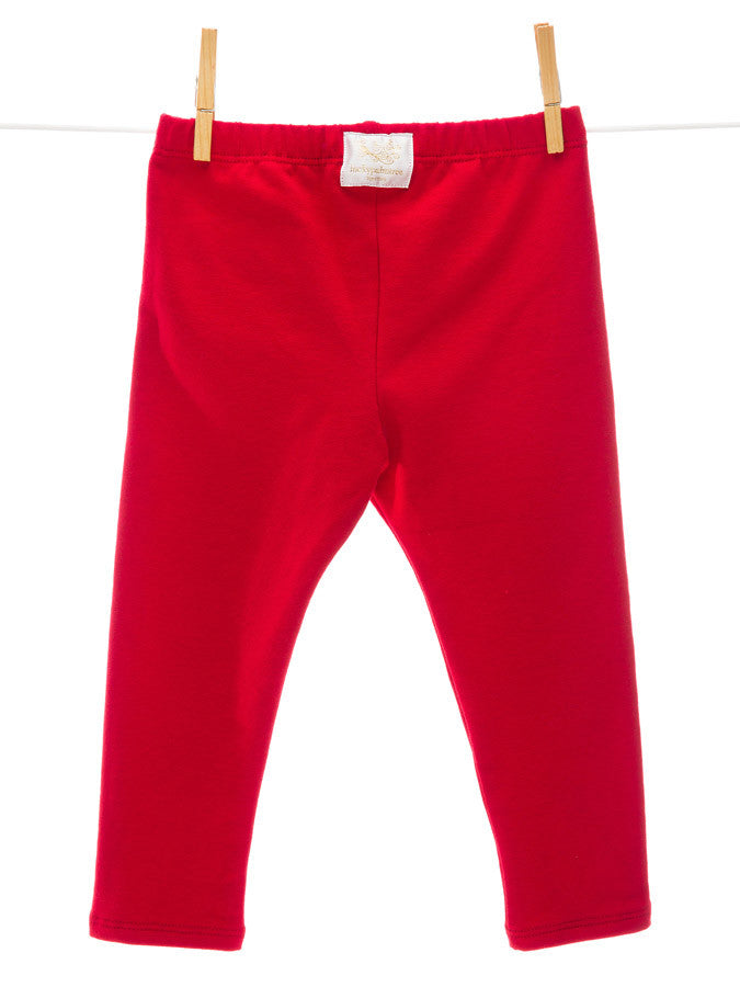 Red Cartoon Patch Pants Luckypalmtree Organic Baby And
