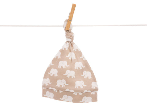Organic gold elephant baby hat, HA222
