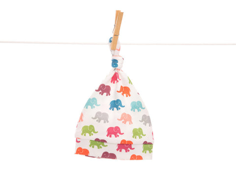 Organic bright elephant baby hat, HA221