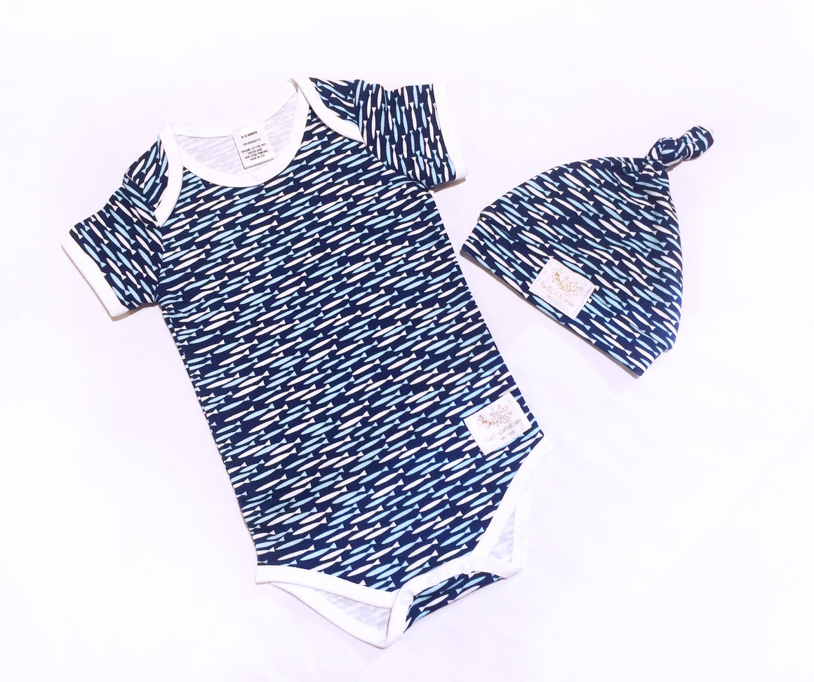 Organic fish Short sleeve bodysuit