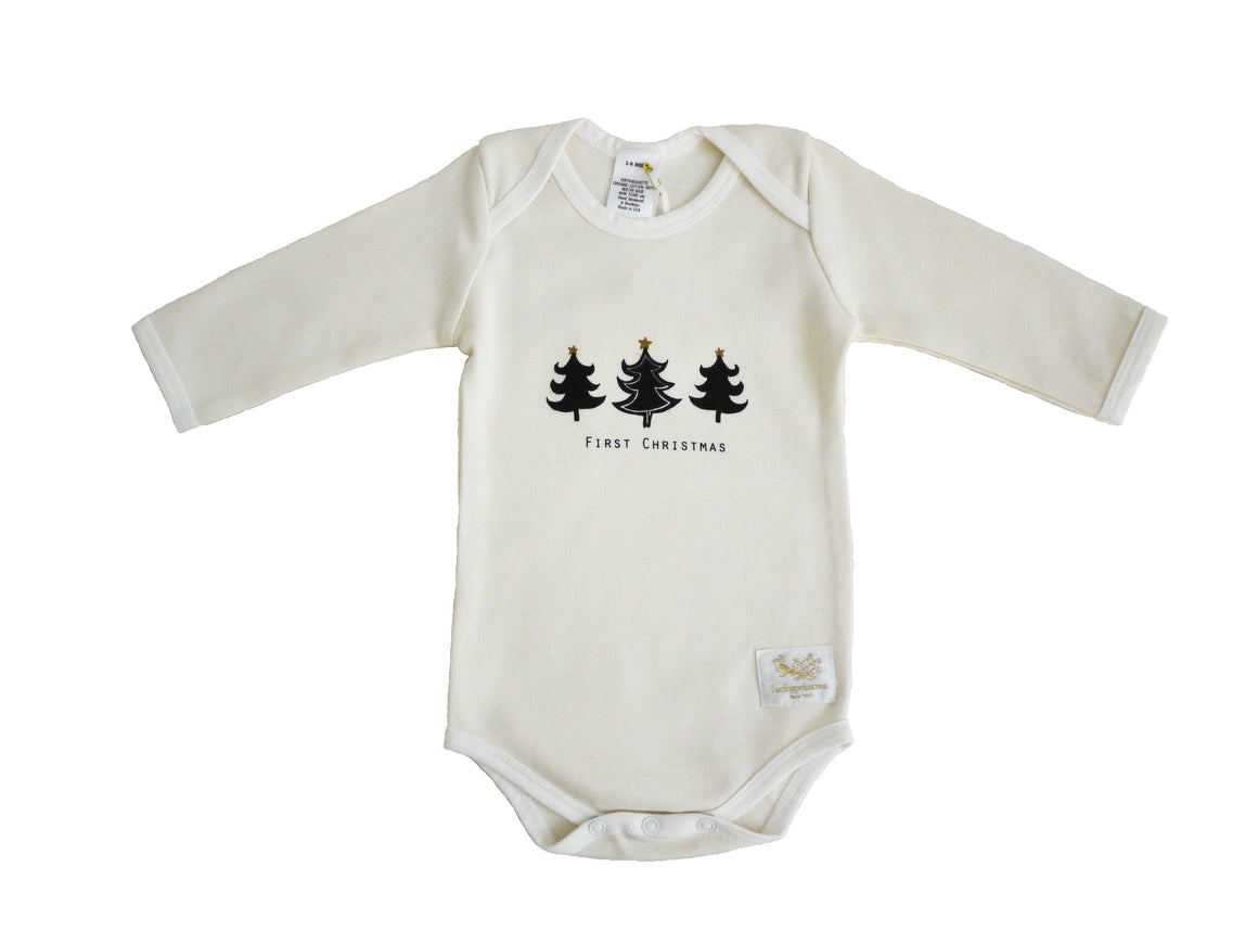 Organic first Christmas bodysuit