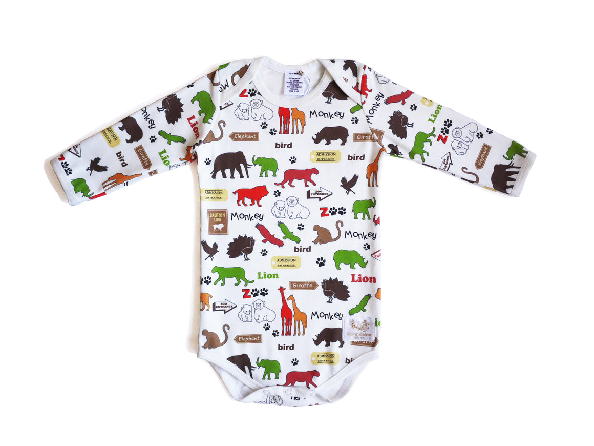Organic zoo multi long sleeve bodysuit