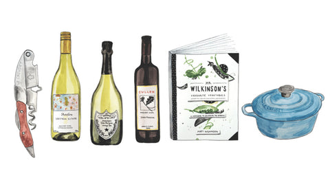 Barwon Heads Wine Store Gift Registry Illustration