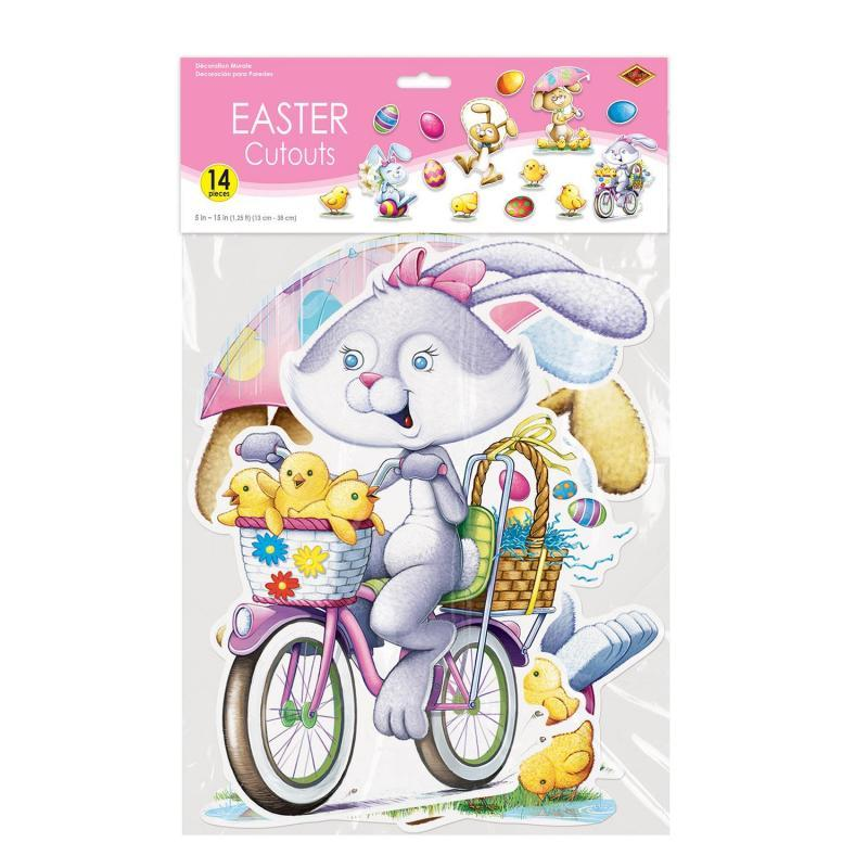 Easter Cutouts (14/Pkg) by Beistle - Easter Theme Decorations