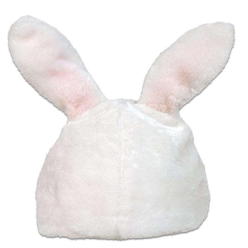Plush Bunny Head Hat by Beistle - Easter Theme Decorations