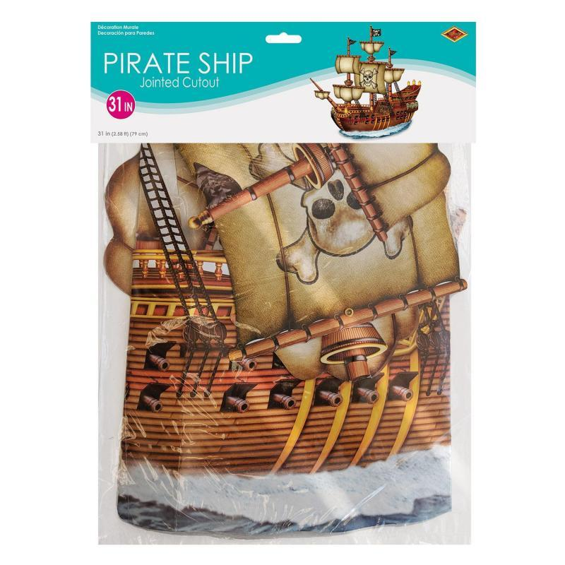 Jointed Pirate Ship by Beistle - Pirate Theme Decorations