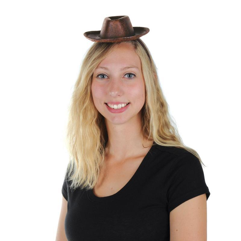 Cowboy Hat Headband by Beistle - Western Theme Decorations