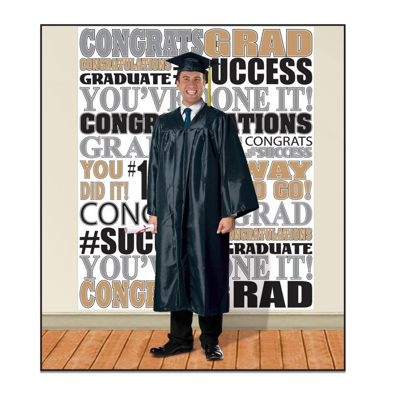 Graduation Insta-Mural Photo Op by Beistle - Graduation Theme Decorations