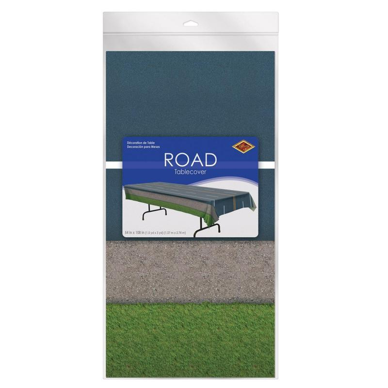 Road Tablecover by Beistle - Construction Theme Decorations