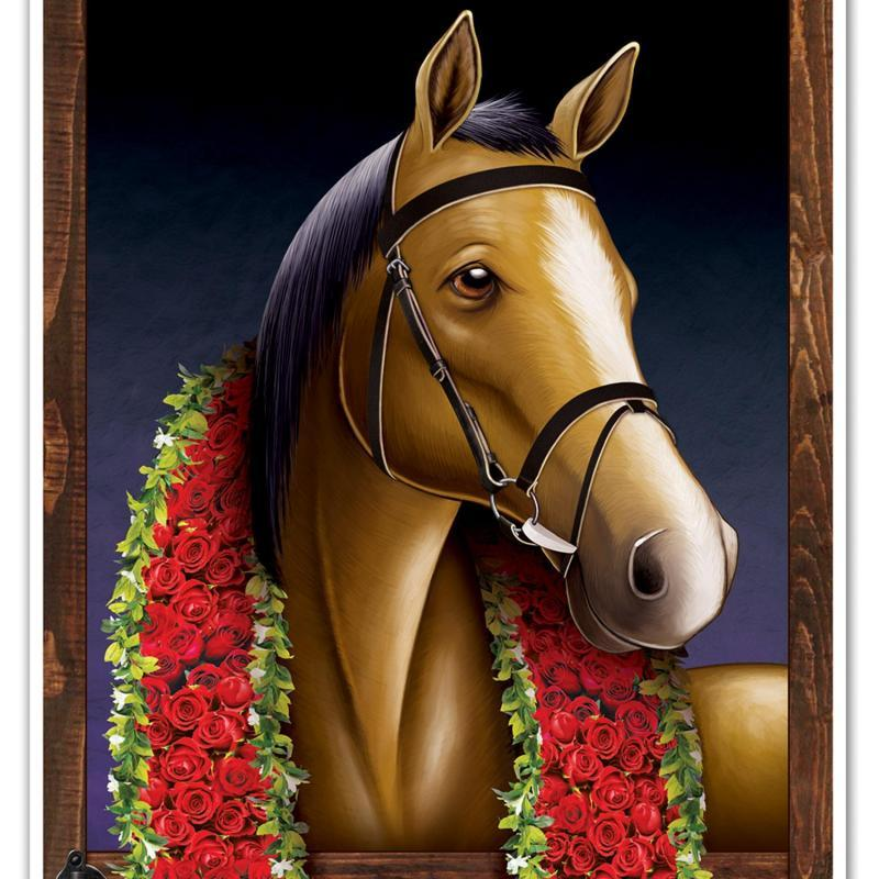 Horse Racing Door Cover by Beistle - Derby Day Theme Decorations