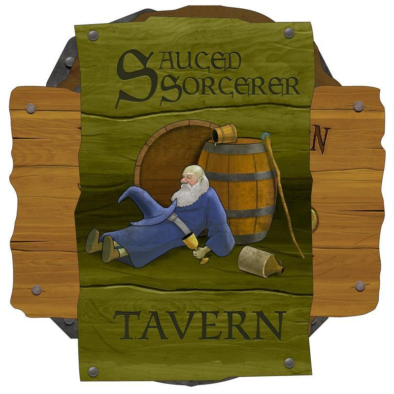 Medieval Tavern Sign Cutouts (6/Pkg) by Beistle - Medieval Theme Decorations