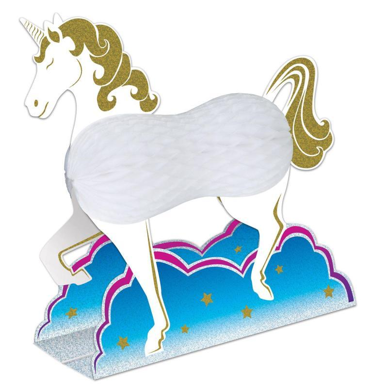 Unicorn Centerpiece by Beistle - Unicorn Theme Decorations