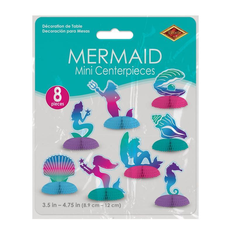 Mermaid Mini Centerpieces (8/Pkg) by Beistle - Mermaid Theme Decorations
