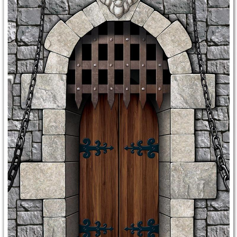 Castle Door Cover by Beistle - Medieval Theme Decorations