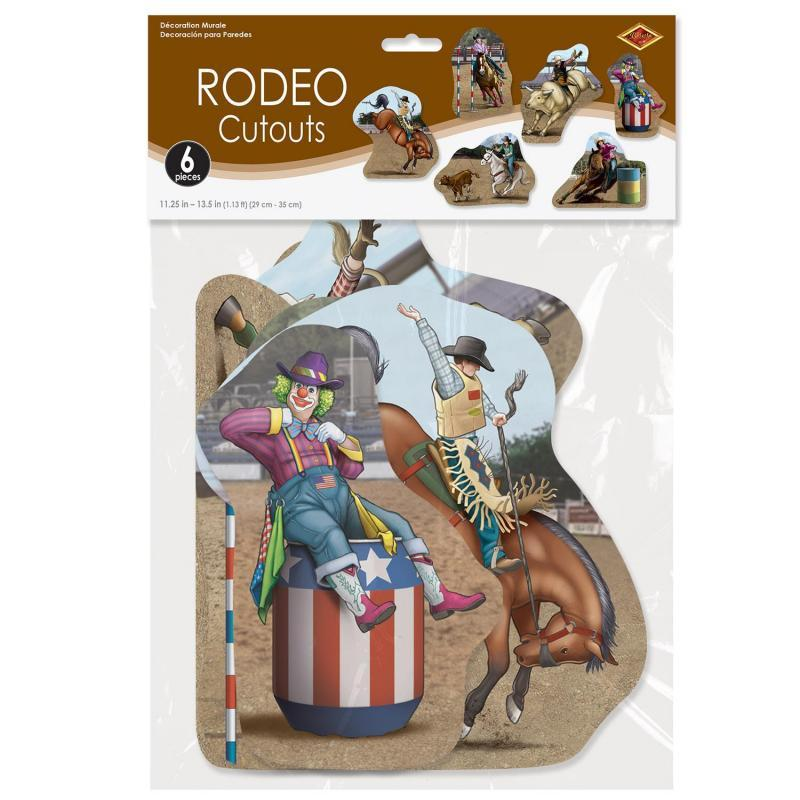 Rodeo Cutouts (6/Pkg) by Beistle - Western Theme Decorations