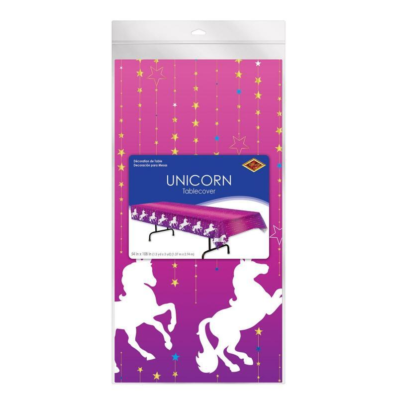 Unicorn Tablecover by Beistle - Unicorn Theme Decorations