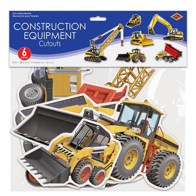 Construction Equipment Cutouts (6/Pkg) by Beistle -  Decorations