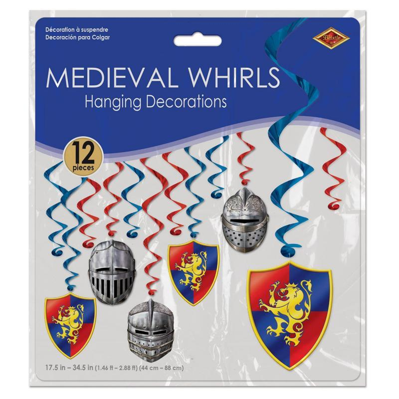 Medieval Whirls (12/Pkg) by Beistle - Medieval Theme Decorations