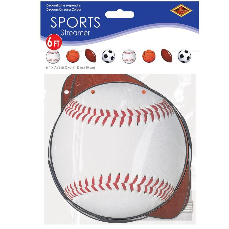 Sports Streamer by Beistle - Sports Theme Decorations