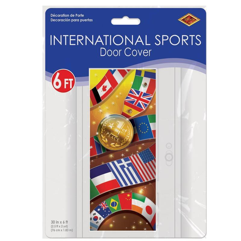 International Sports Door Cover by Beistle - Sports Theme Decorations