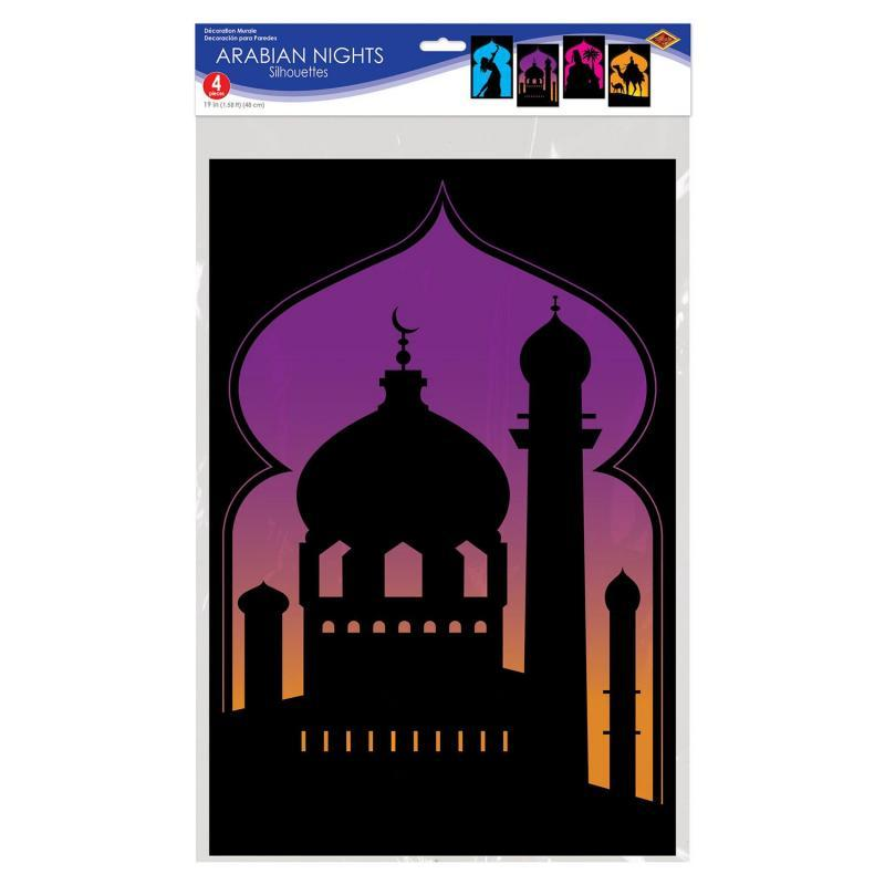 Arabian Nights Silhouettes (4/Pkg) by Beistle - Arabian Nights Theme Decorations