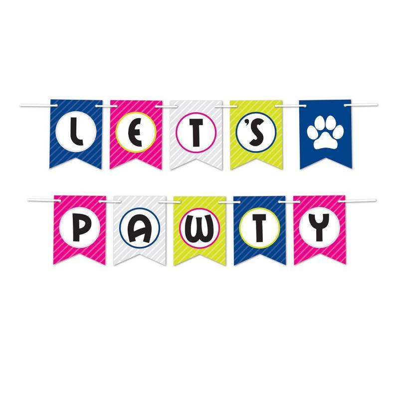 Let's Pawty Streamer by Beistle - Pets Theme Decorations