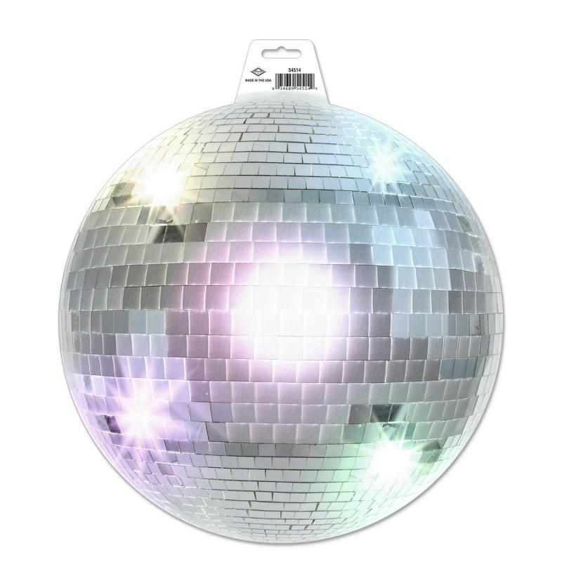 Disco Ball Cutout by Beistle - 70's Theme Decorations
