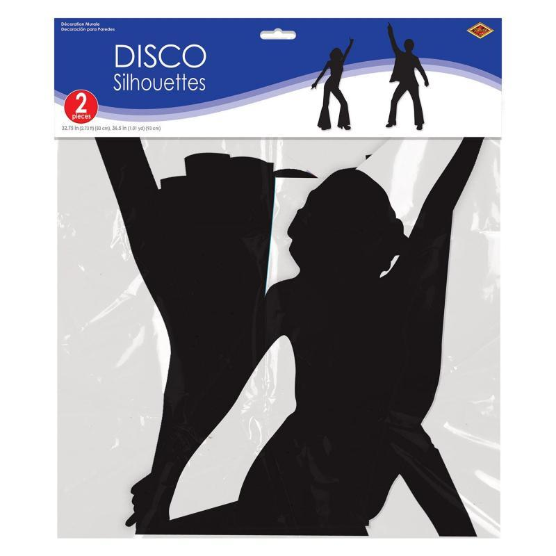 Disco Silhouettes (2/Pkg) by Beistle - 70's Theme Decorations