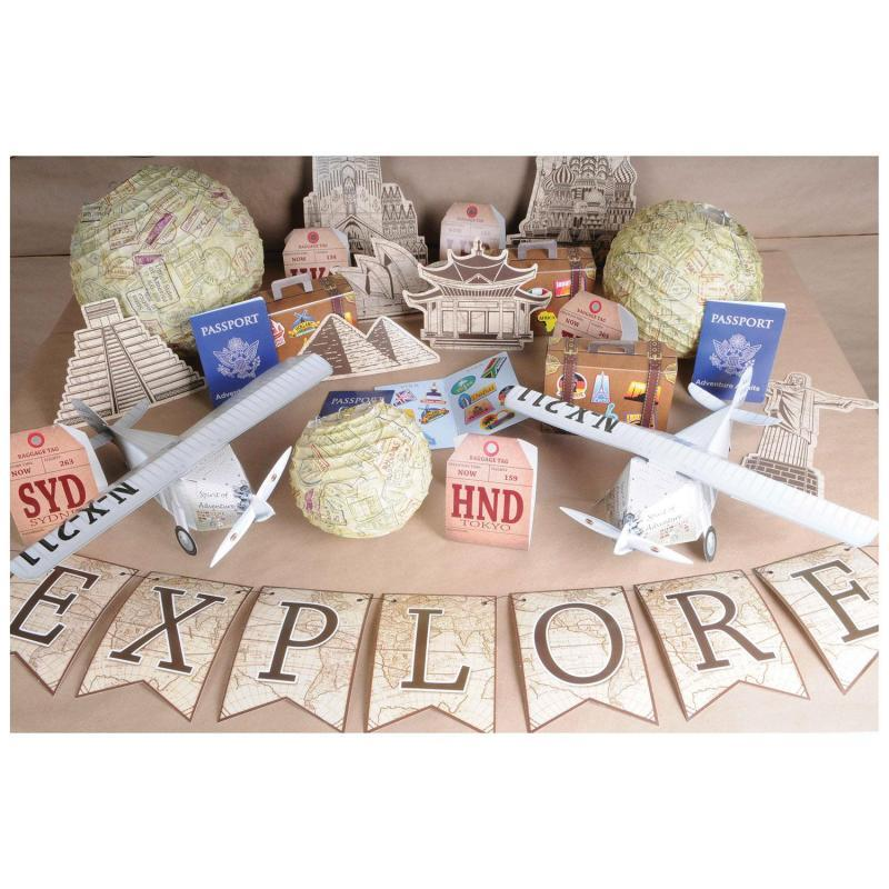 Luggage Favor Boxes (3/Pkg) by Beistle - Around The World Theme Decorations