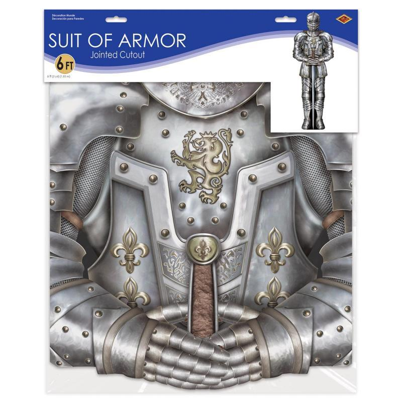Jointed Suit Of Armor by Beistle - Medieval Theme Decorations