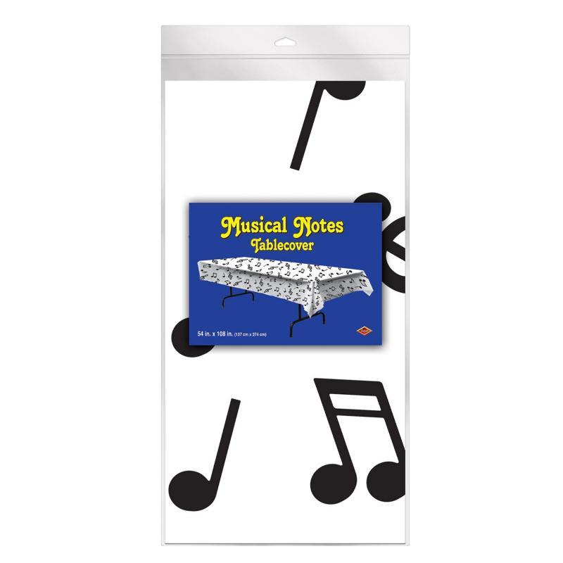 Musical Notes Tablecover by Beistle - Music Theme Decorations
