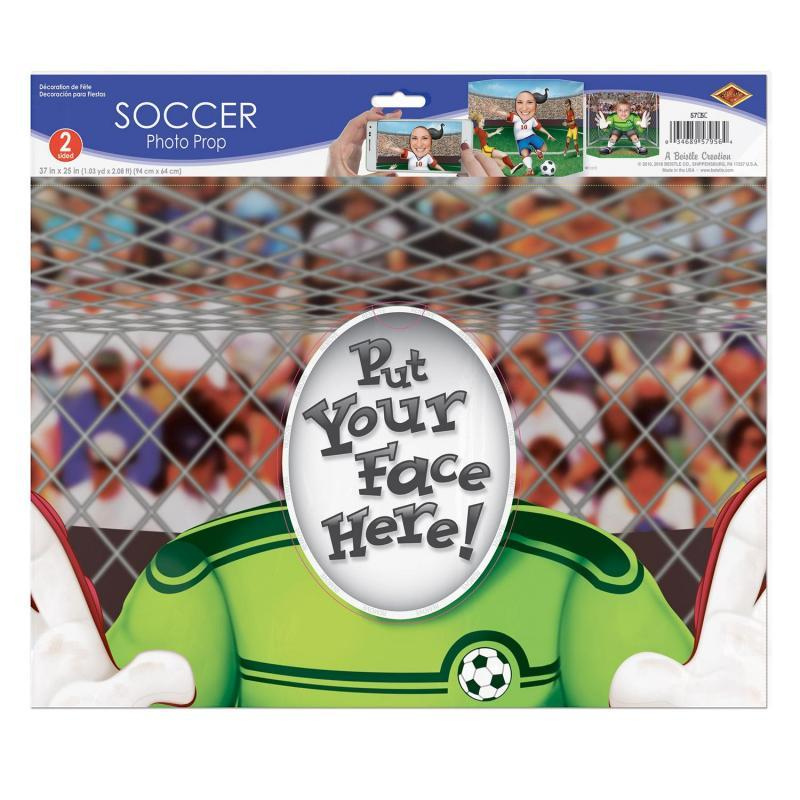Soccer Photo Prop by Beistle - Soccer Theme Decorations