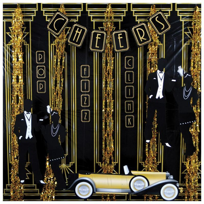 Great 20's Backdrop by Beistle - 20's Theme Decorations
