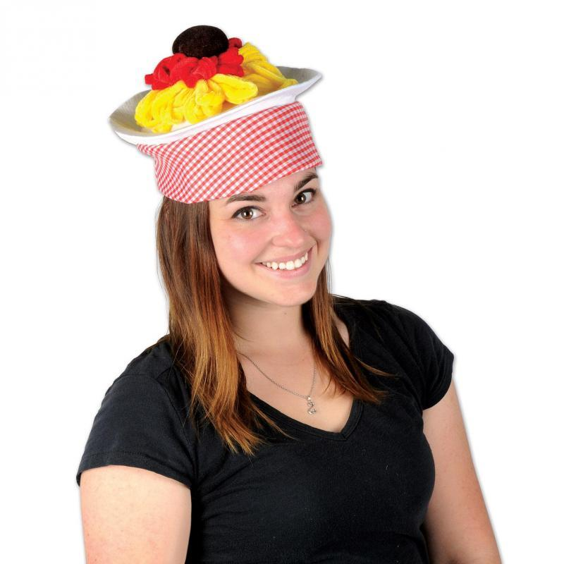 Plush Spaghetti & Meatball Hat by Beistle - Italian Theme Decorations