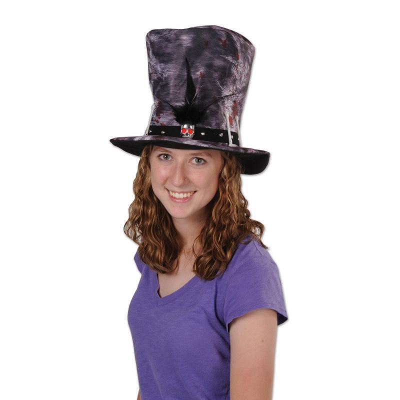 Plush Voodoo Hat by Beistle - Mardi Gras Theme Decorations
