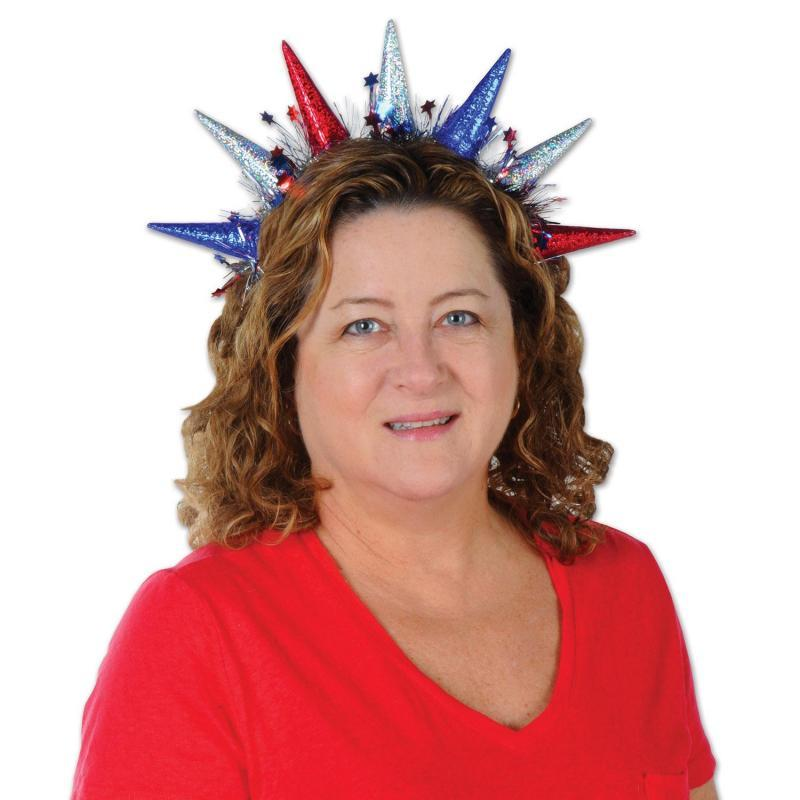 Statue Of Liberty Tiara Headband by Beistle - Patriotic Theme Decorations