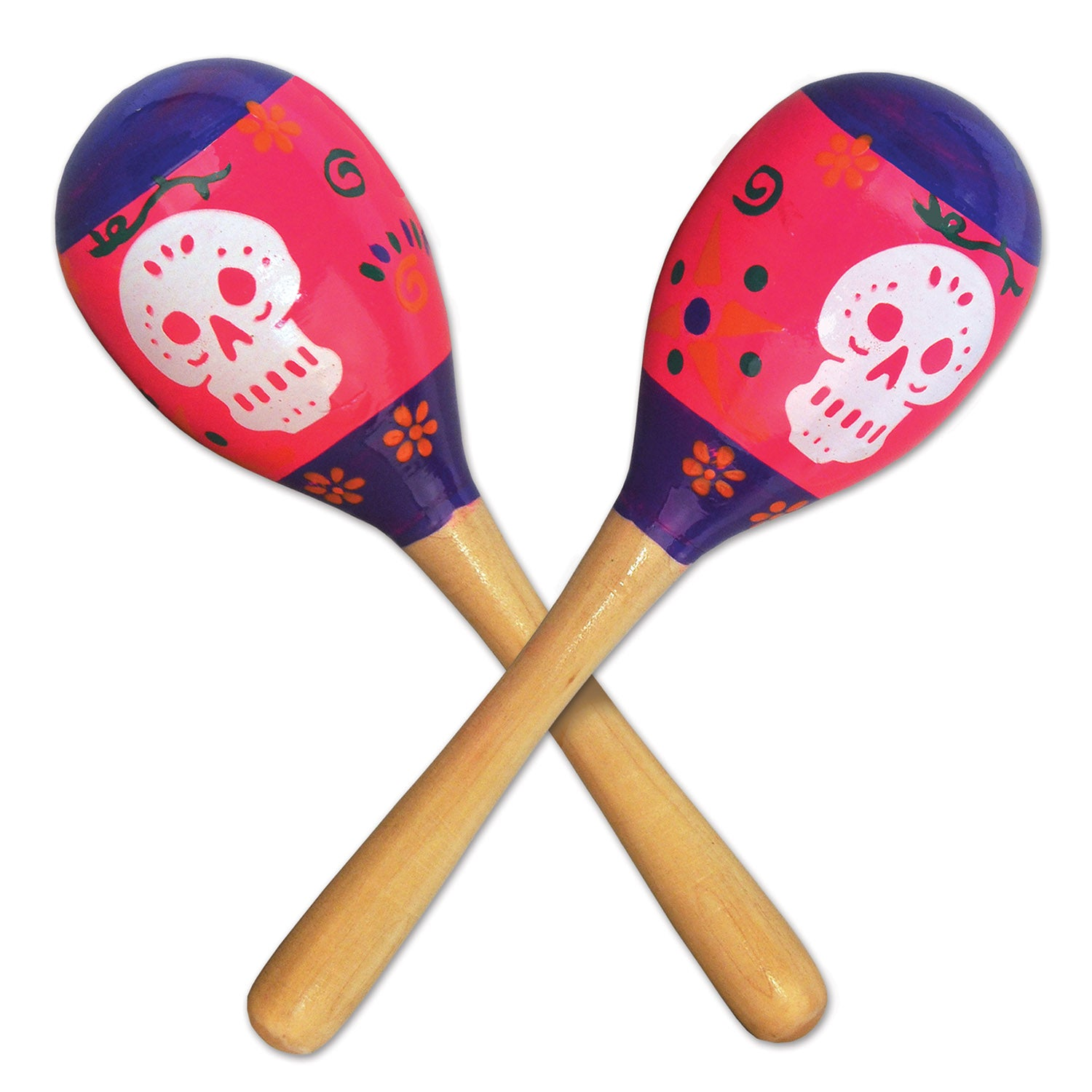 Day Of The Dead Maracas (2/Pkg) by Beistle - Day of the Dead Theme Decorations