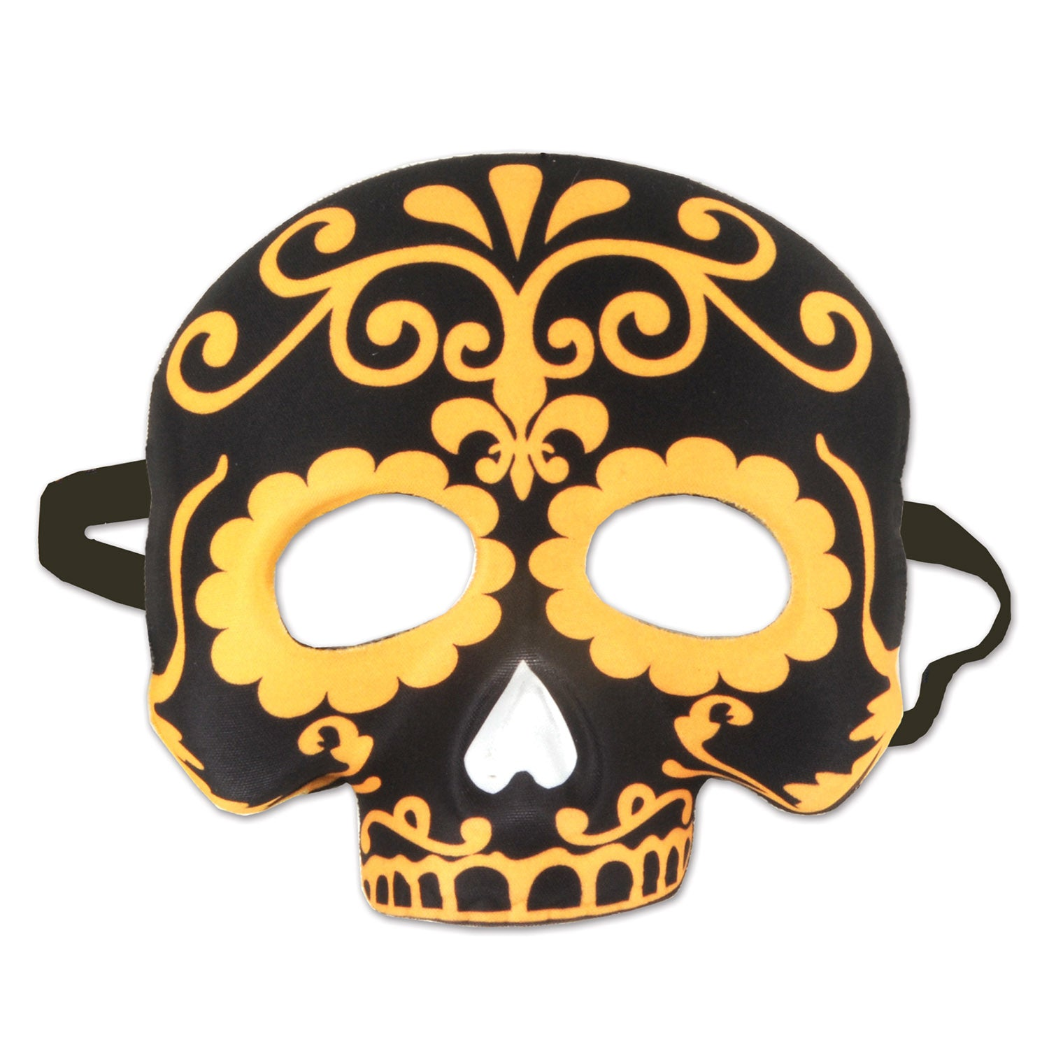 Day Of The Dead Half Mask by Beistle - Day of the Dead Theme Decorations