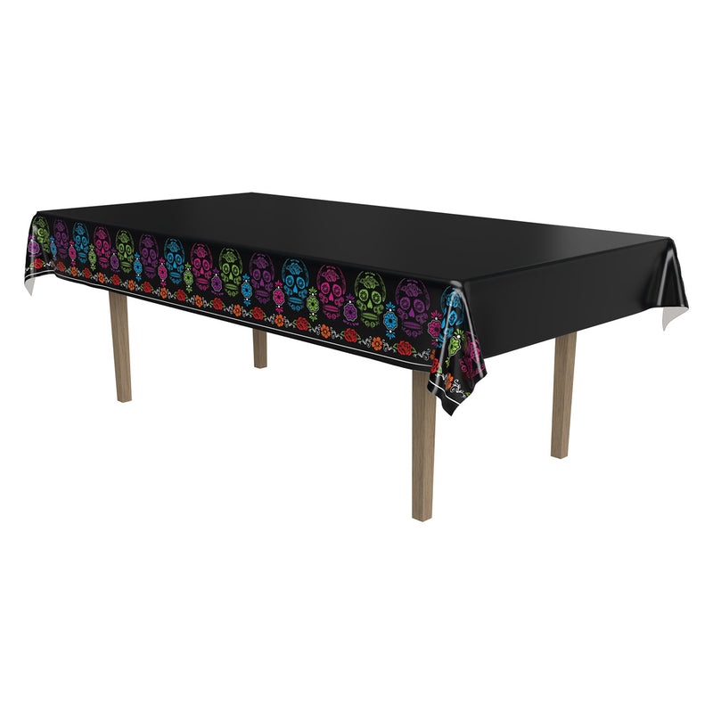 Day Of The Dead Tablecover by Beistle - Day of the Dead Theme Decorations
